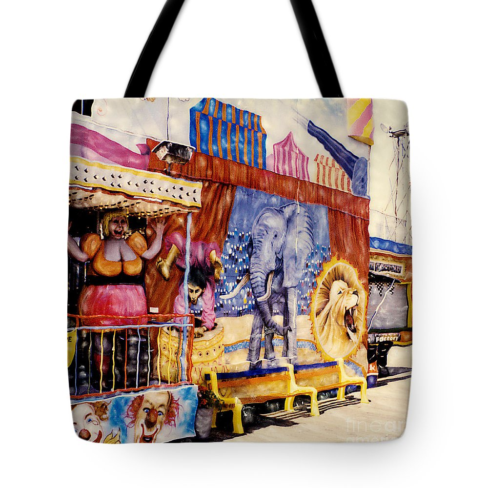 Boardwalk Tote Bag featuring the photograph Seaside New Jersey by Keith Dillon