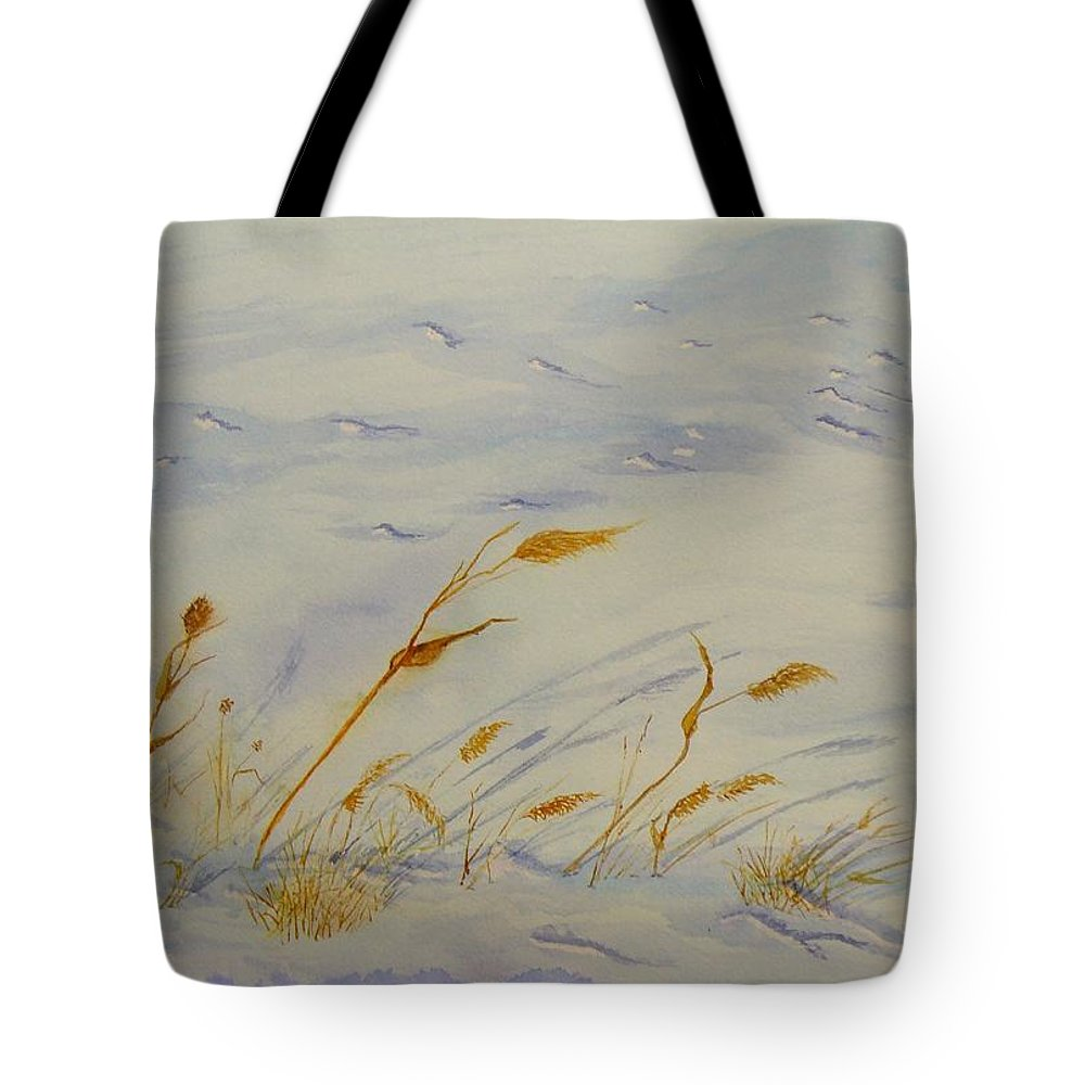 Snow Tote Bag featuring the painting Seasons Past by Peggy King