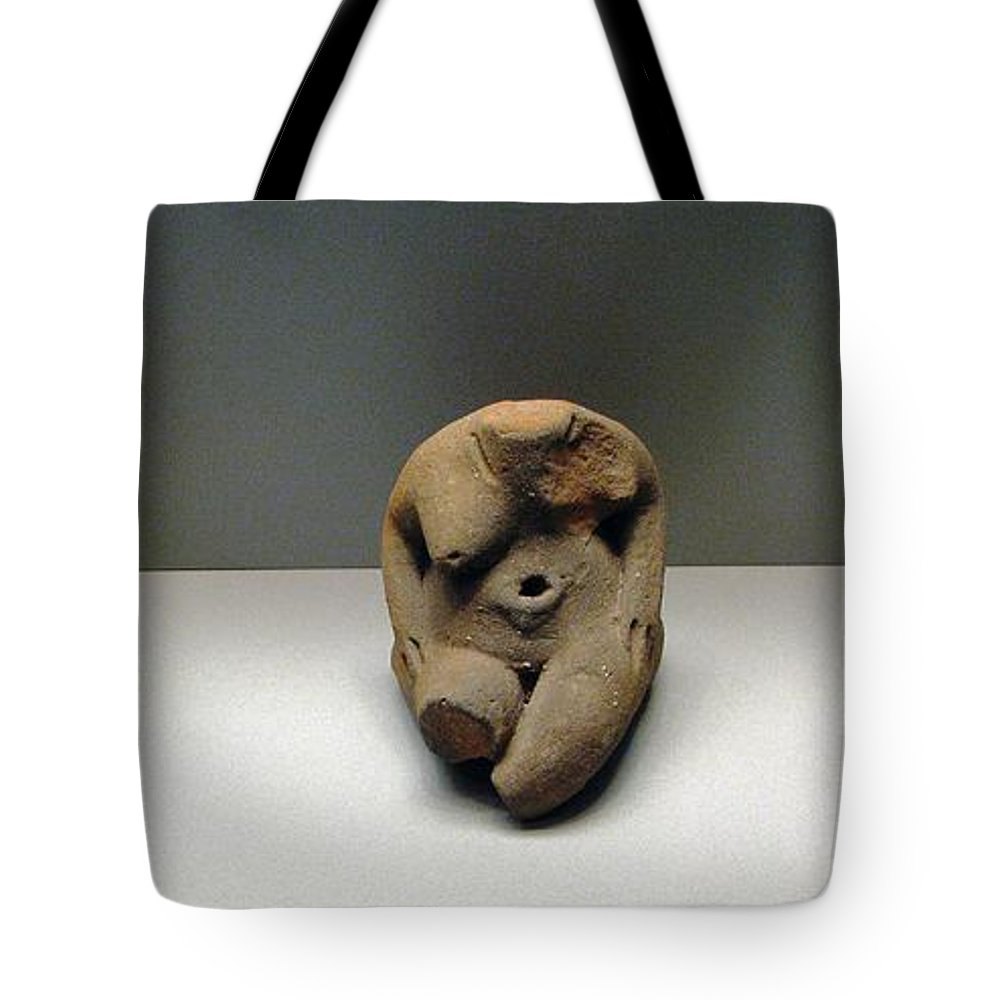 Neolithic Figurine Tote Bag featuring the photograph Seated Women by Andonis Katanos