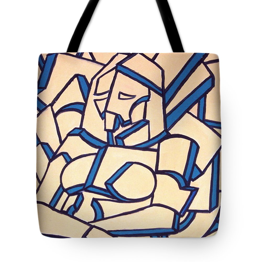 Girl Tote Bag featuring the painting Seated Women by Thomas Valentine