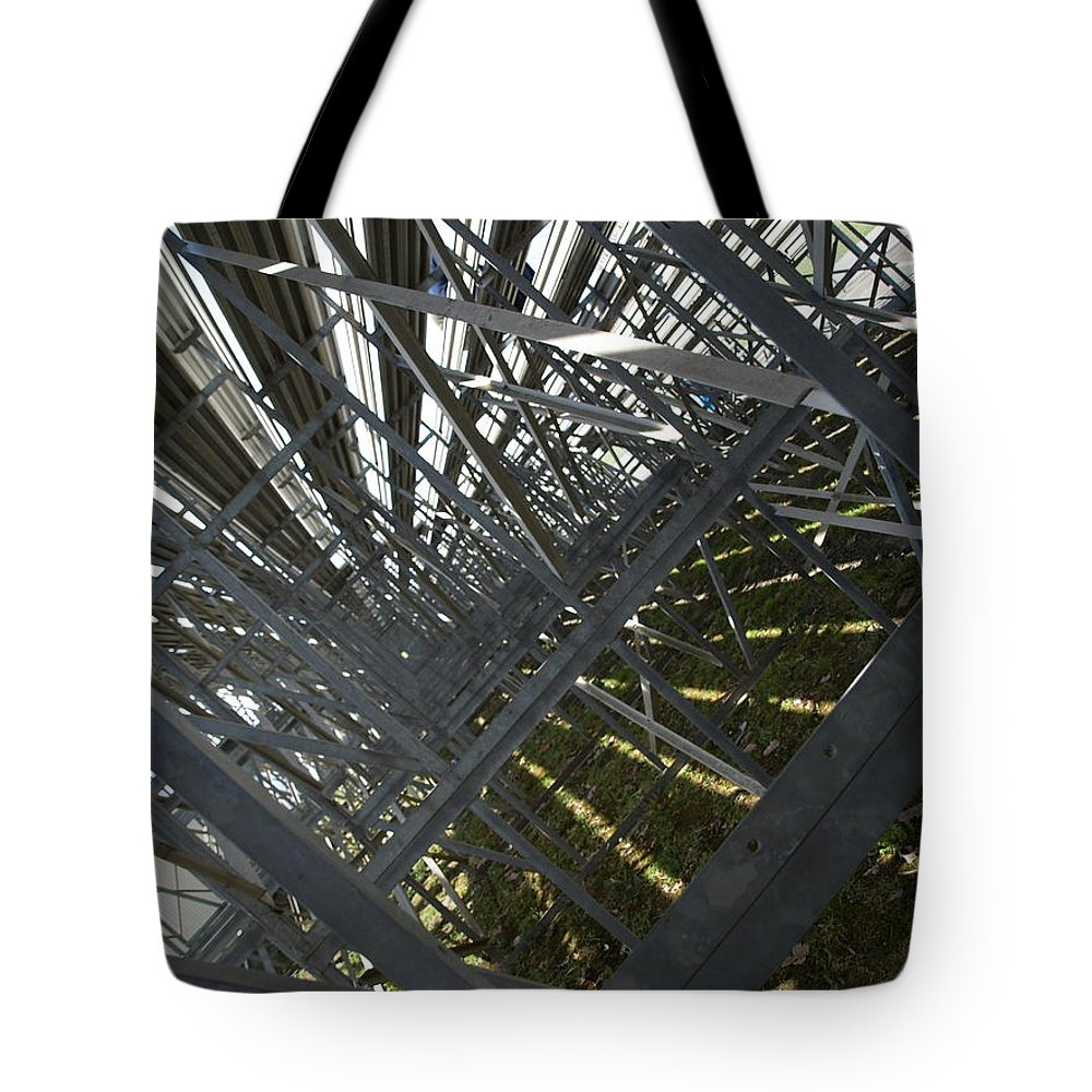 Abstract Tote Bag featuring the photograph Seating Room by Jason Bellantoni