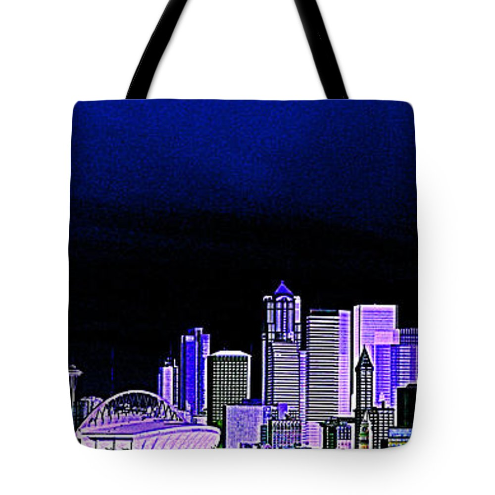 Seattle Tote Bag featuring the photograph Seattle Blue 2 by Nick Gustafson