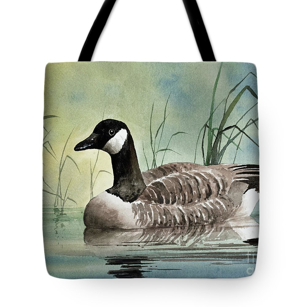 Canada Goose Tote Bag featuring the painting Secluded Repose by James Williamson