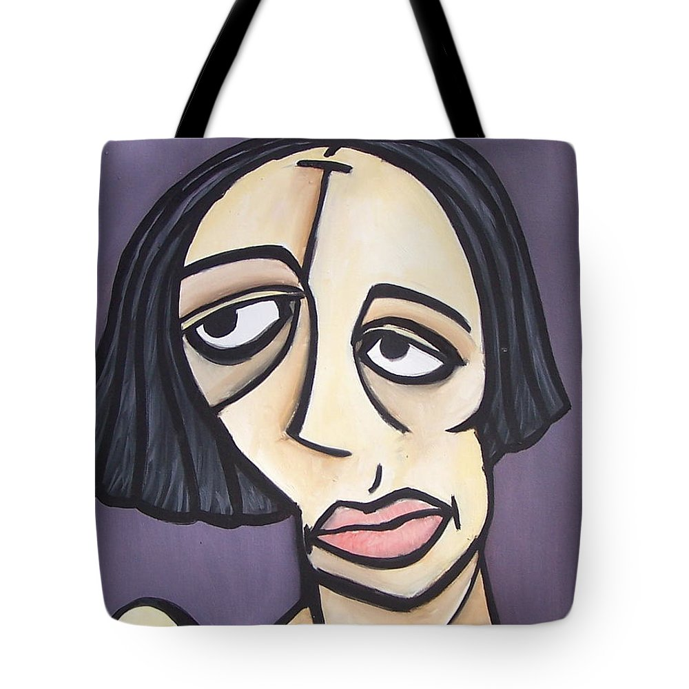 Nude Tote Bag featuring the painting Second Vanessa by Thomas Valentine