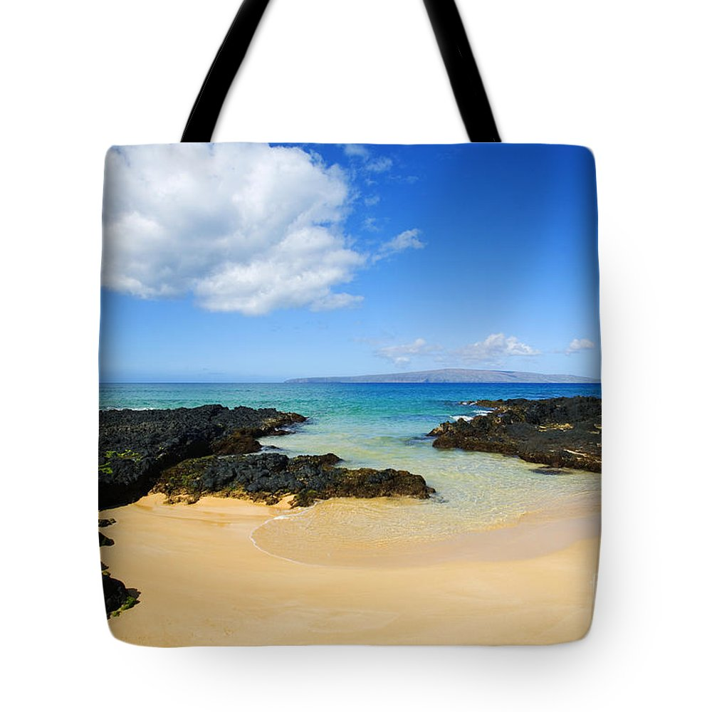 Beach Tote Bag featuring the photograph Secret Beach by Ron Dahlquist - Printscapes