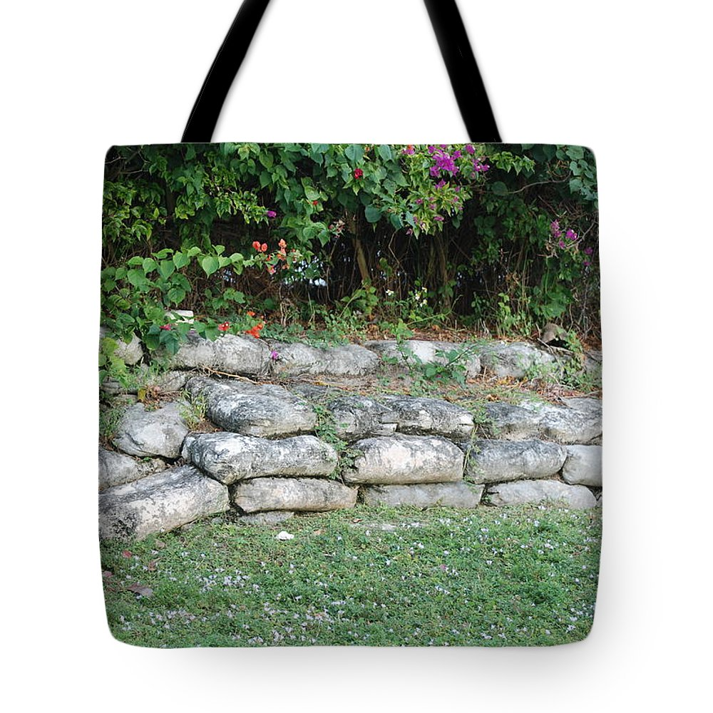 Block Tote Bag featuring the photograph Secret Block Wall by Rob Hans