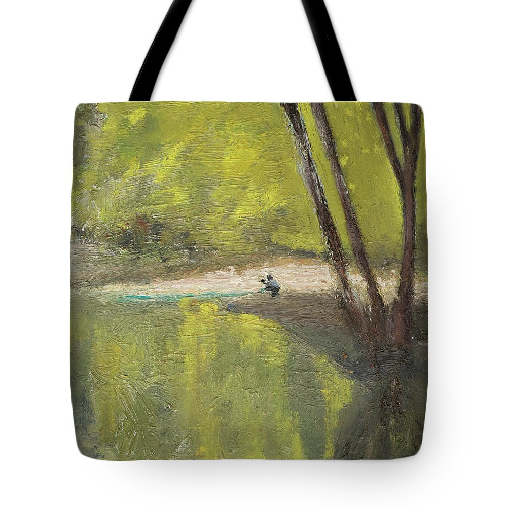 Lake Tote Bag featuring the painting Secret Cove by Craig Newland