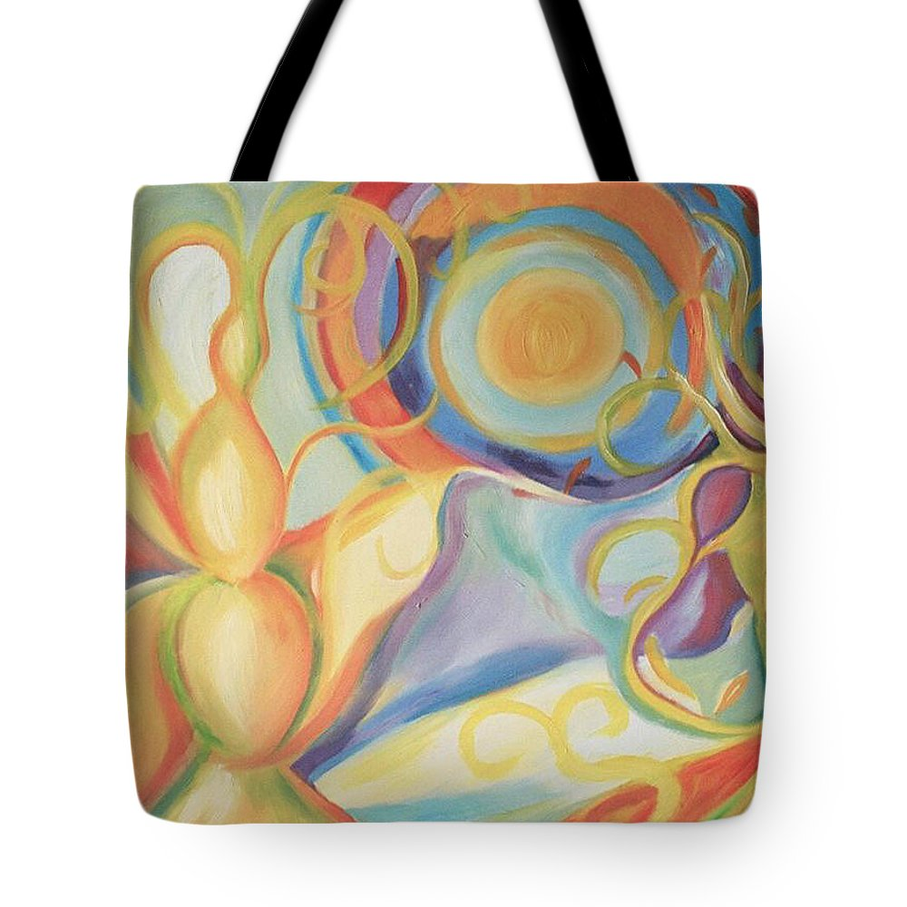Garden Tote Bag featuring the painting Secret Garden by Jelila