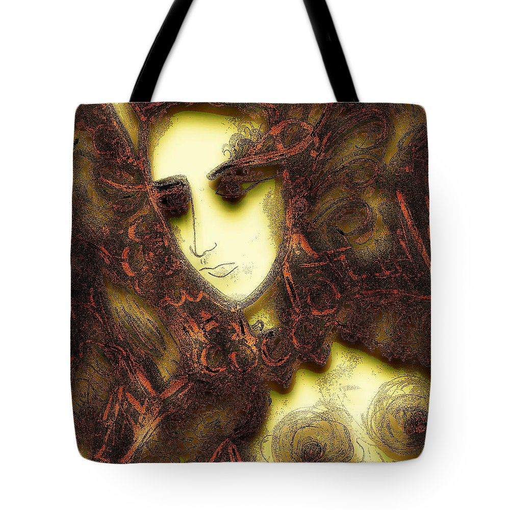 Nymph Tote Bag featuring the painting Secret Nymph by Natalie Holland