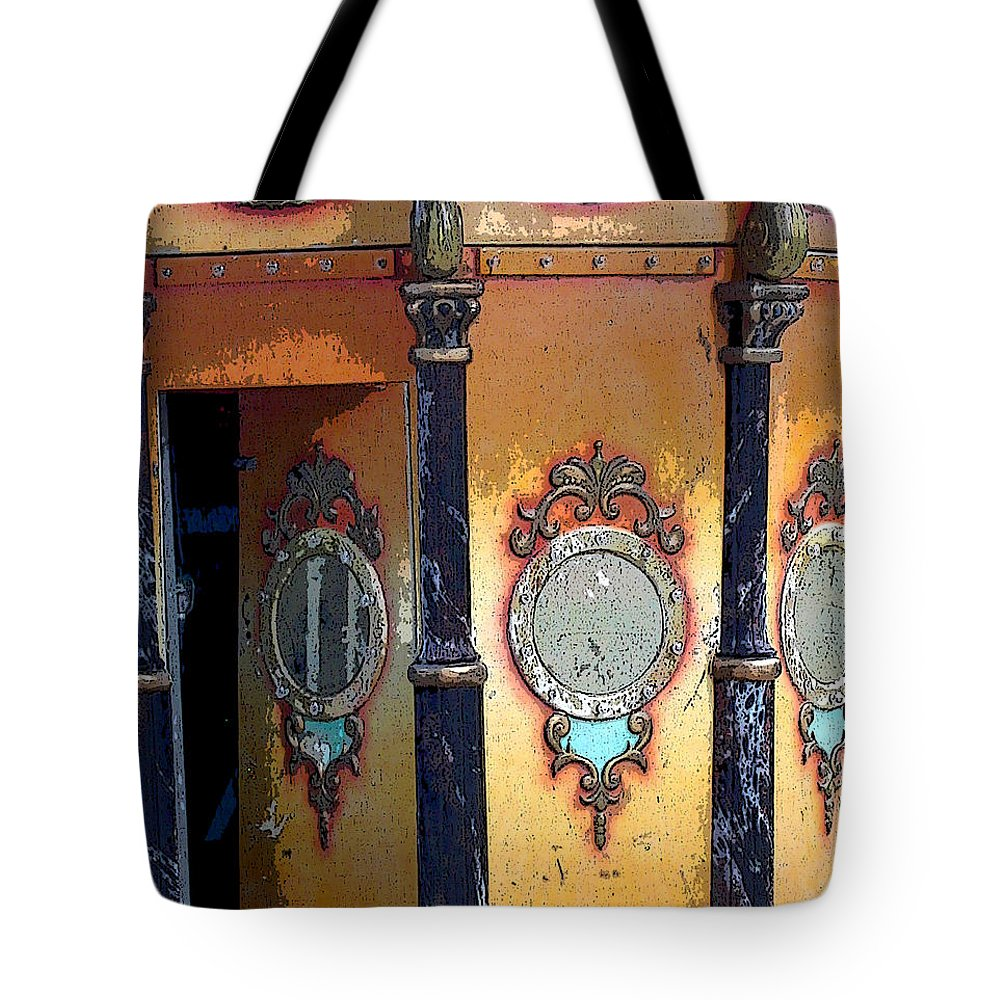 Carousel Tote Bag featuring the photograph Secret Passageway by Anne Cameron Cutri