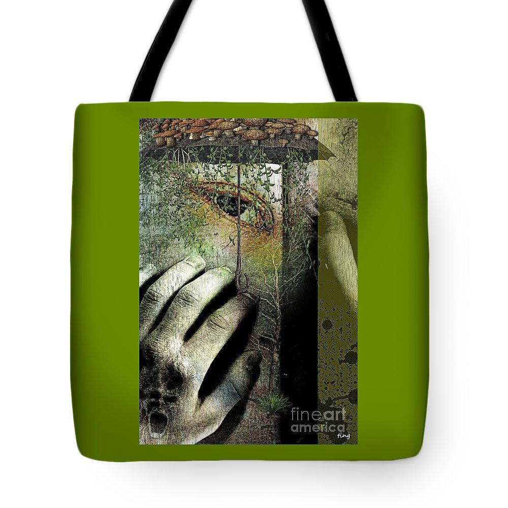 Secret Soul Tote Bag featuring the digital art Secret Soul by Ting Huang