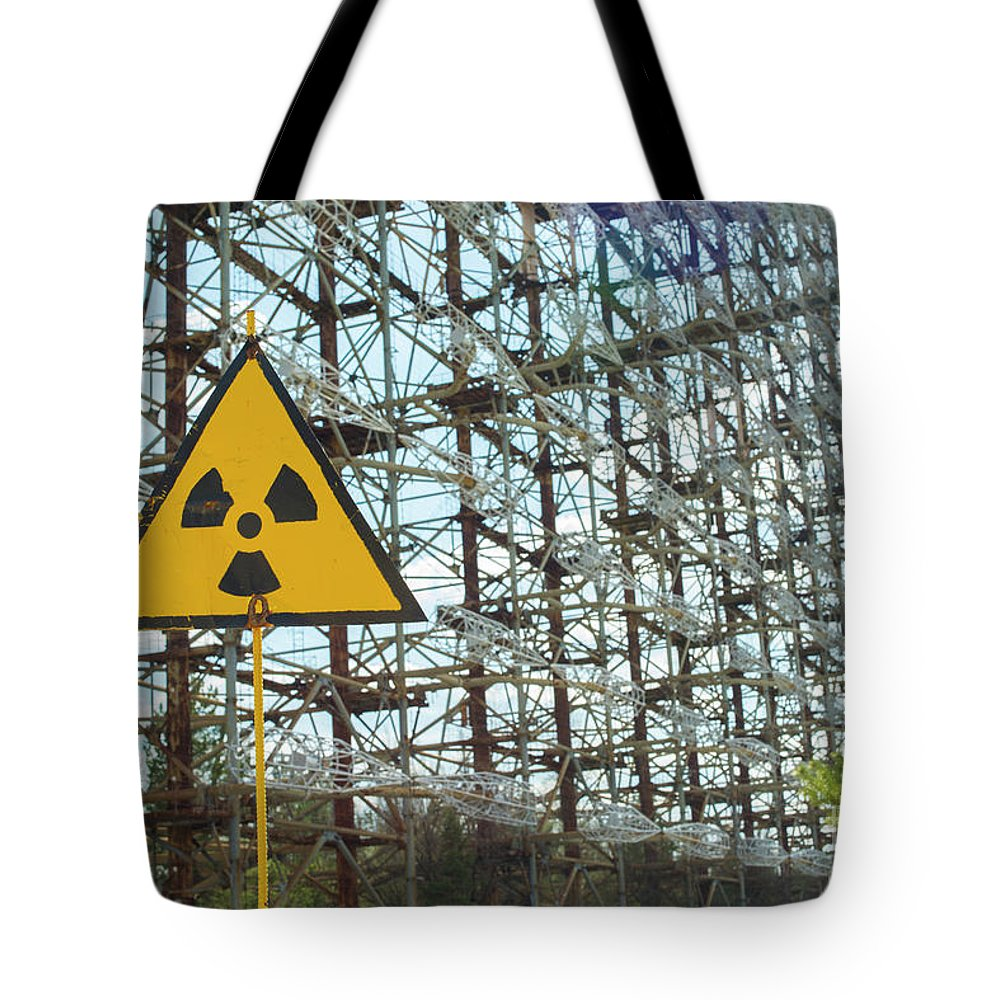 Radioactive Tote Bag featuring the photograph Secret Soviet Antenna Called Duga Radar Hidden In Chernobyl Zone by Juli Scalzi