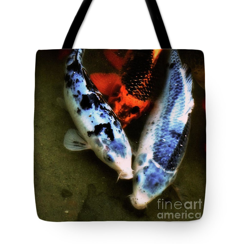 Koi Tote Bag featuring the photograph Secrets Of The Wild Koi 10 by September Stone