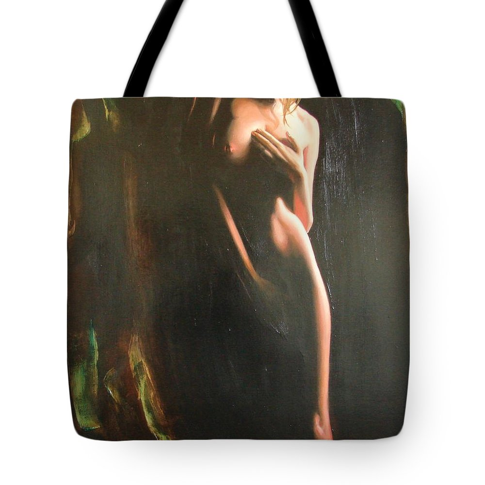 Art Tote Bag featuring the painting Secrets by Sergey Ignatenko