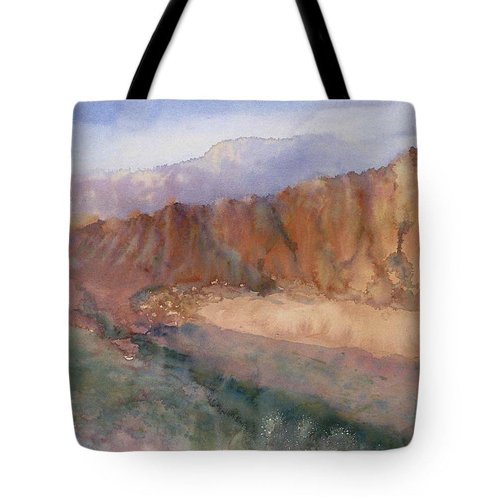 Sedopn Tote Bag featuring the painting Sedona by Ann Cockerill
