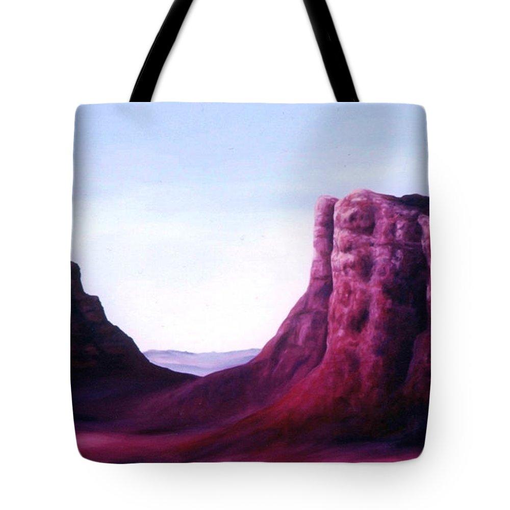 Arizona Tote Bag featuring the painting Sedona by Melissa Joyfully