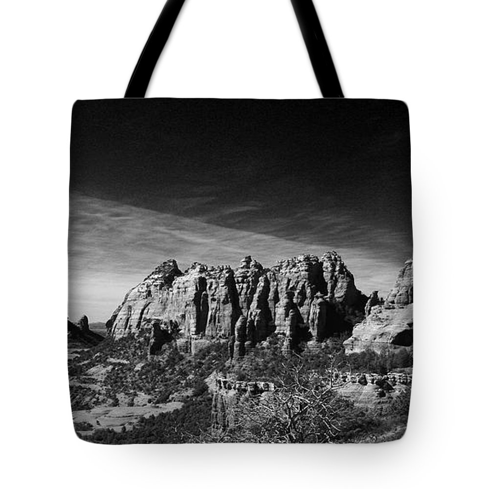 Sedona Tote Bag featuring the photograph Sedona Reversed by Randy Oberg