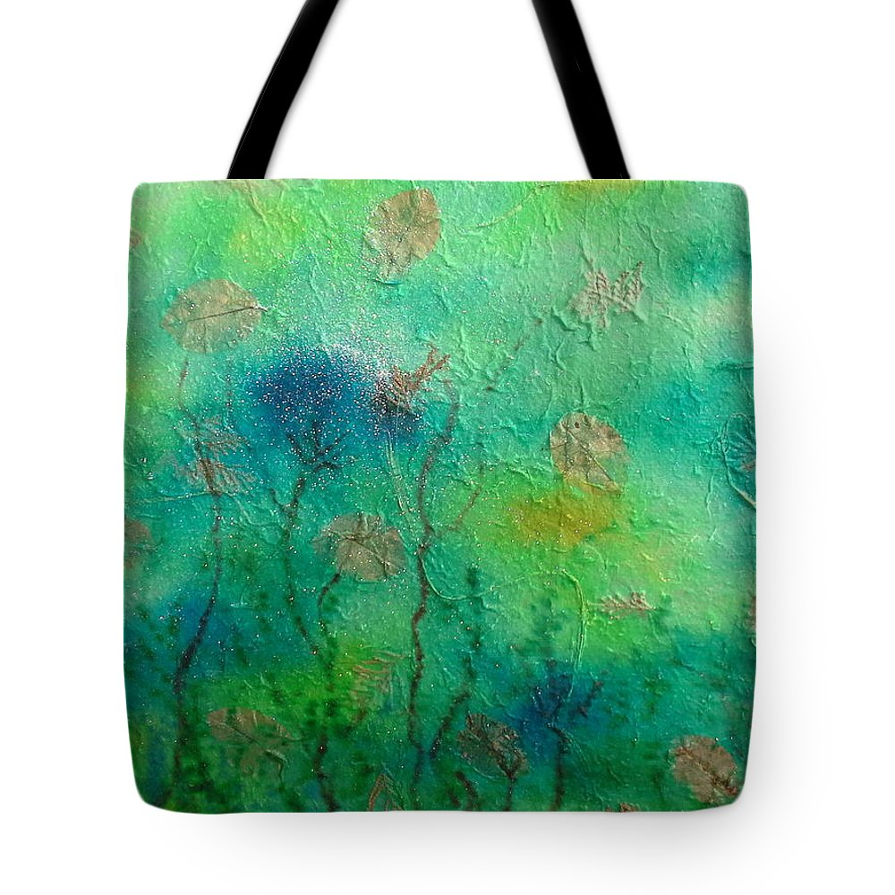 Abstract Tote Bag featuring the painting See Dreams by Nadine Cotton