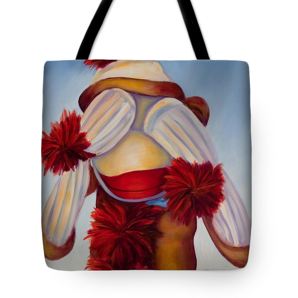 Children Tote Bag featuring the painting See No Bad Stuff by Shannon Grissom
