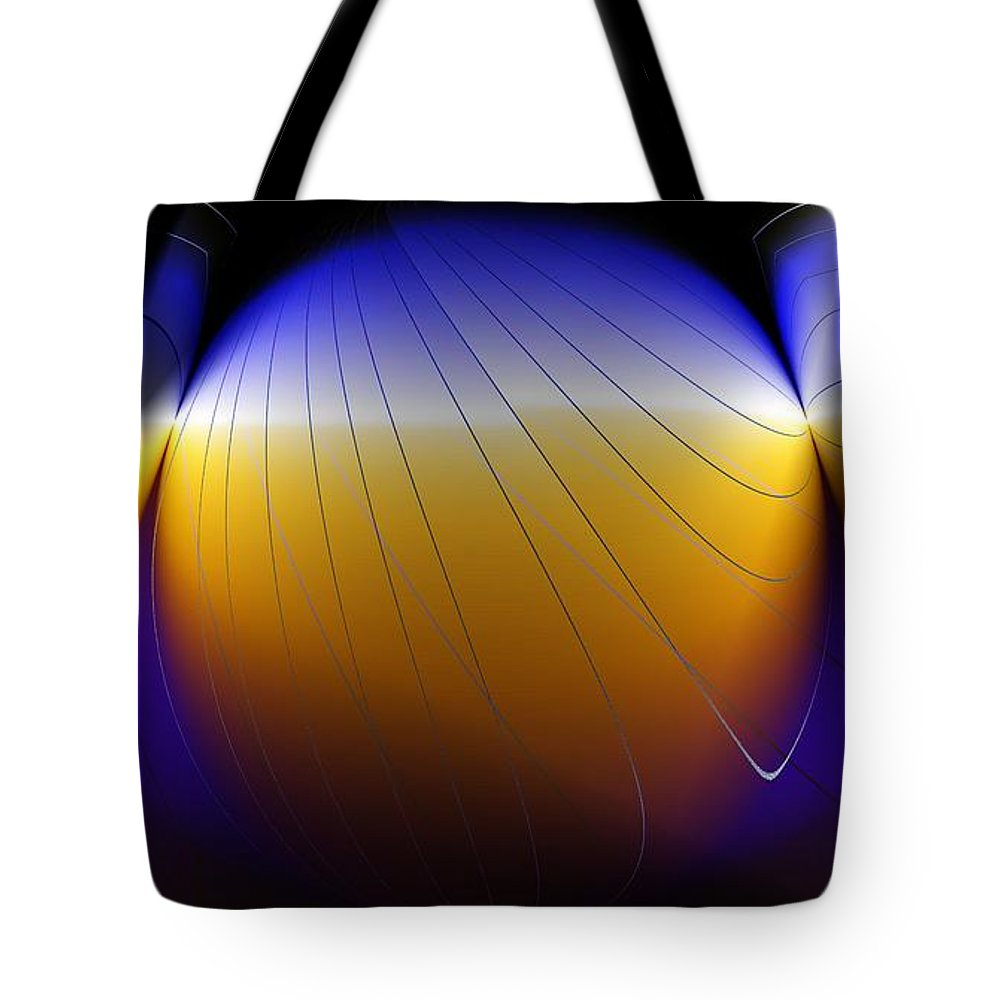 Abstract Tote Bag featuring the digital art See Thru Shapes by Ron Bissett