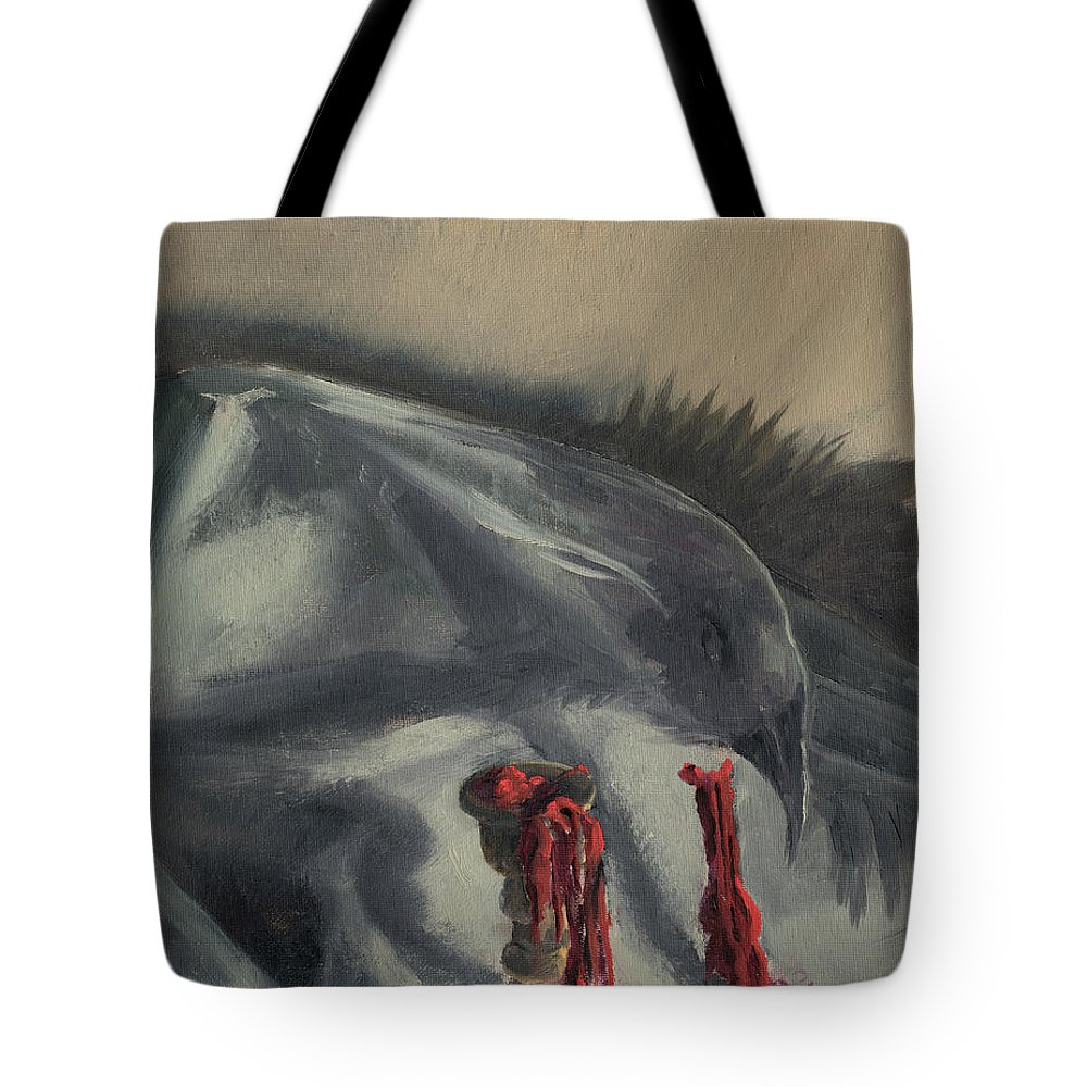 Bird Tote Bag featuring the painting See You In The Shadows by Break The Silhouette