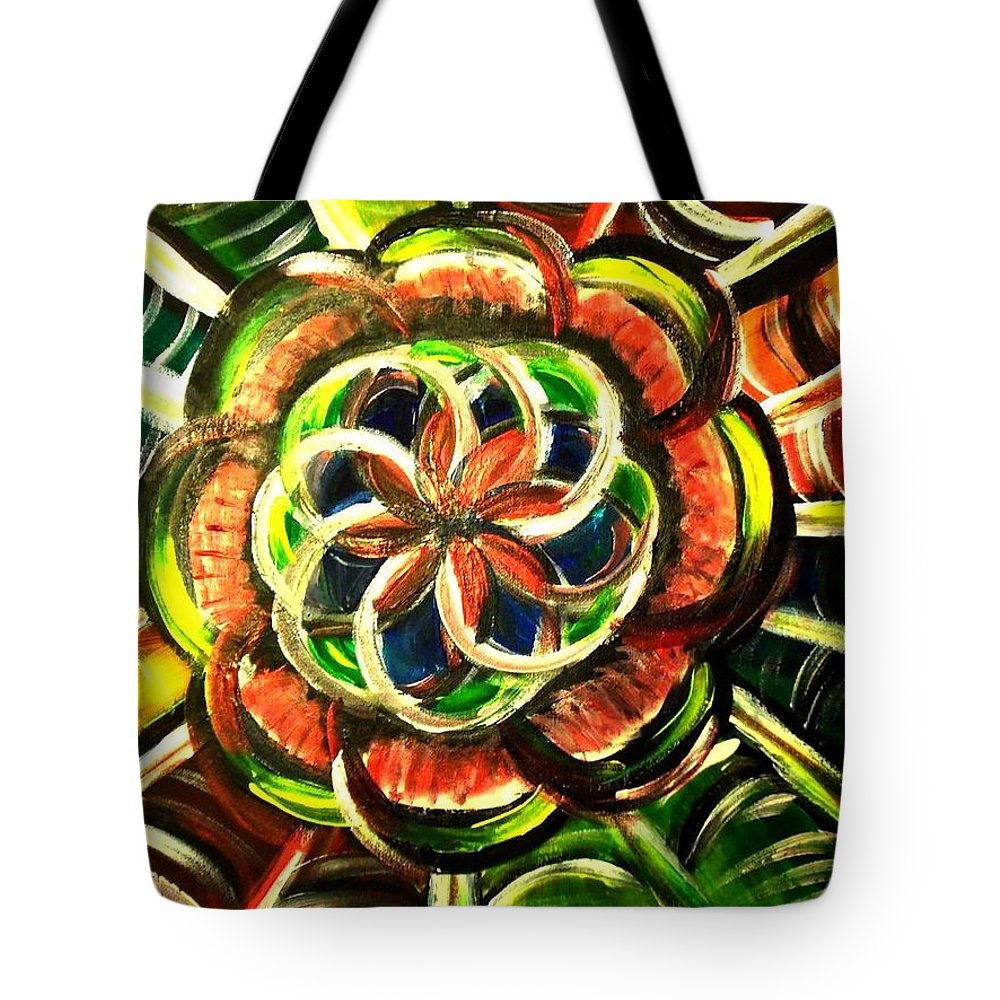 Seed Of Life Tote Bag featuring the painting Seed Of Life by Christine McNulty