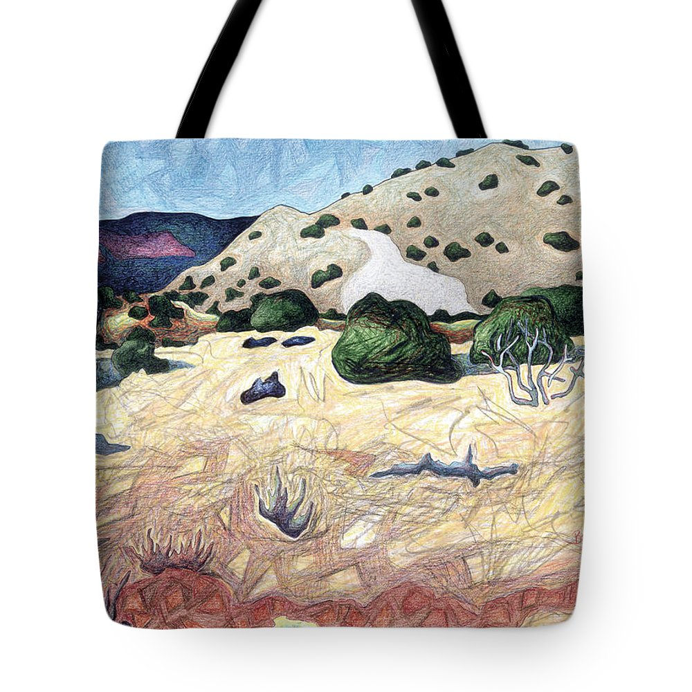 Seeing Beyond The Temporal Tote Bag featuring the pastel Seeing Beyond The Temporal by Dale Beckman