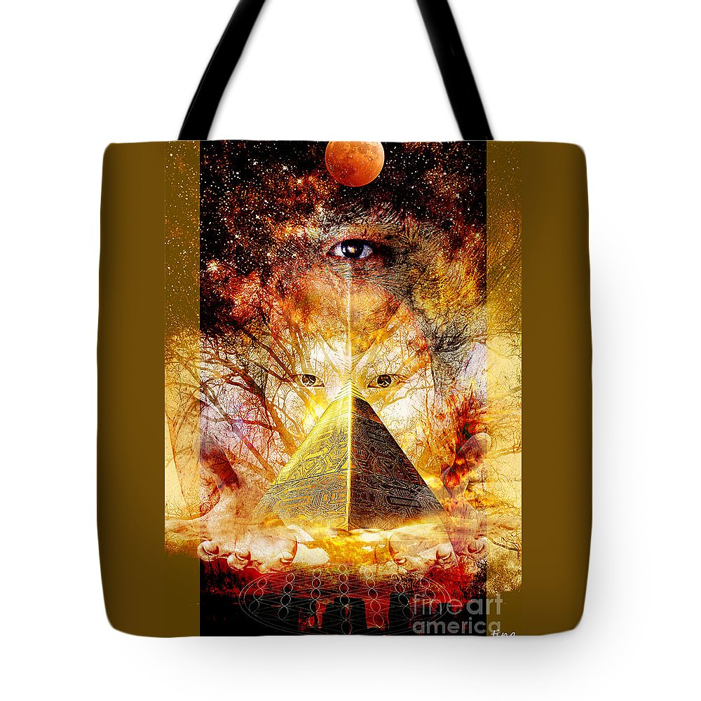 Seeing Tote Bag featuring the digital art Seeing by Ting Huang