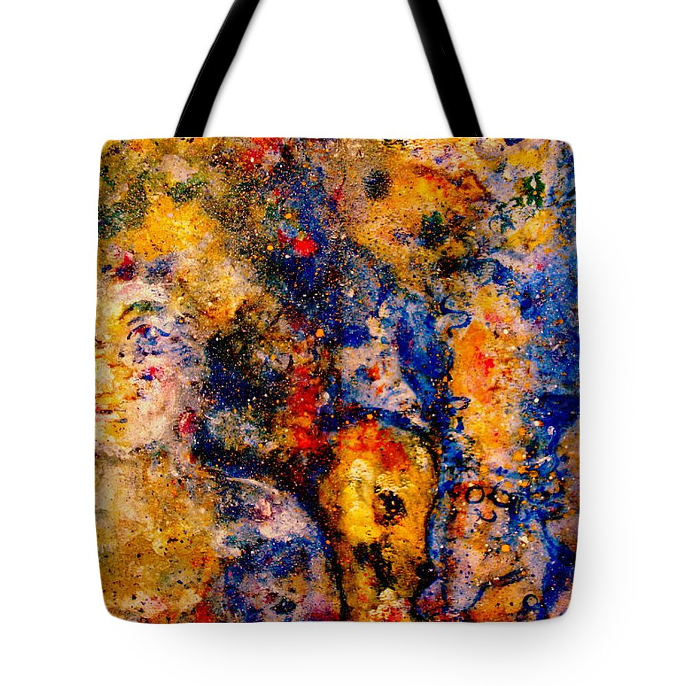 Expressionism Tote Bag featuring the painting Seeking Wanderers by Natalie Holland