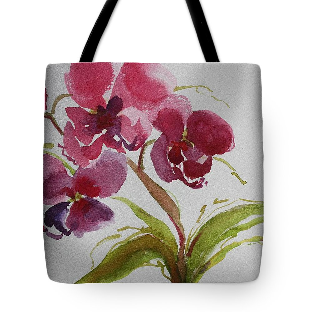 Zen Tote Bag featuring the painting Selby Orchid II by Tara Moorman