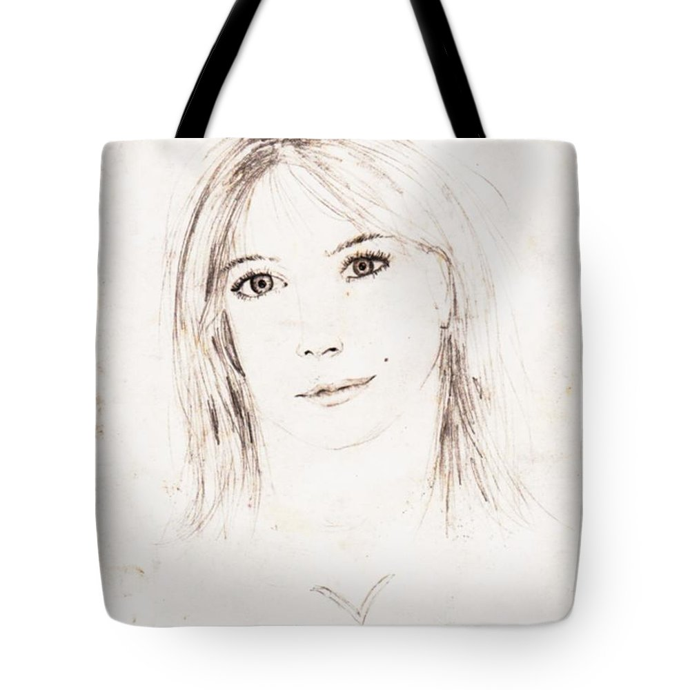 Drawing Tote Bag featuring the drawing Self Capture by Vicki Lynn Sodora