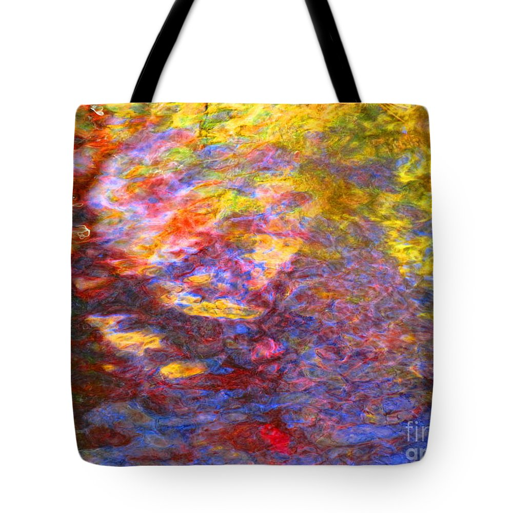 Abstract Tote Bag featuring the photograph Coming Together by Sybil Staples