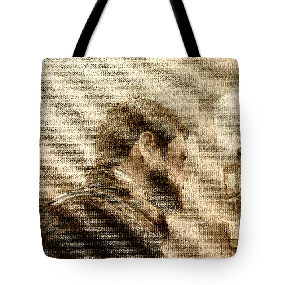 Tote Bag featuring the painting Self by Joe Velez