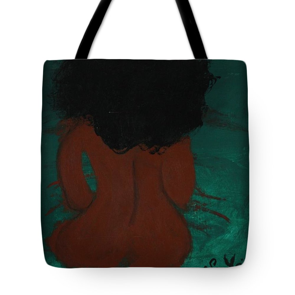 Self-love Tote Bag featuring the painting Self- Love by Sonye Locksmith