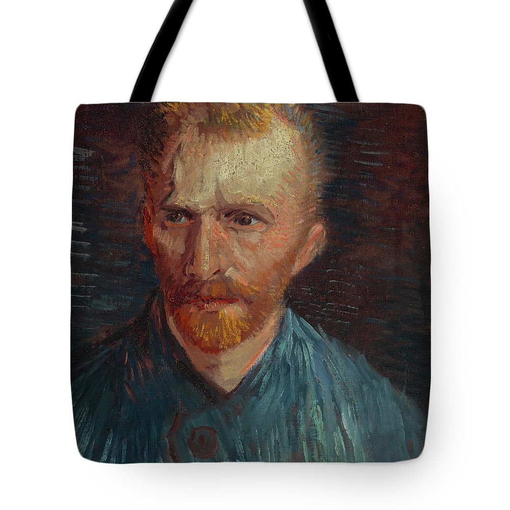 Vincent Van Gogh Tote Bag featuring the painting Self-portrait-1 by Vincent van Gogh