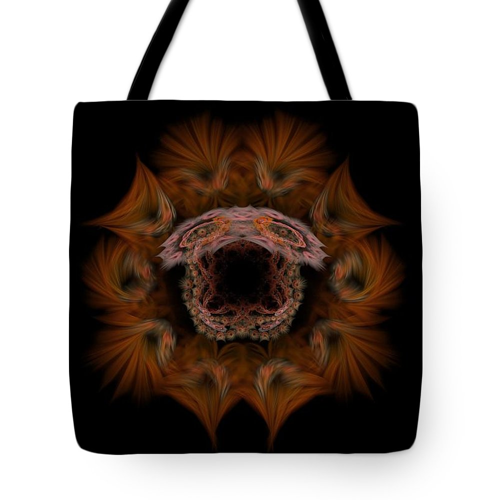 Fantasy Tote Bag featuring the digital art Self-portrait 12-22-09 by David Lane