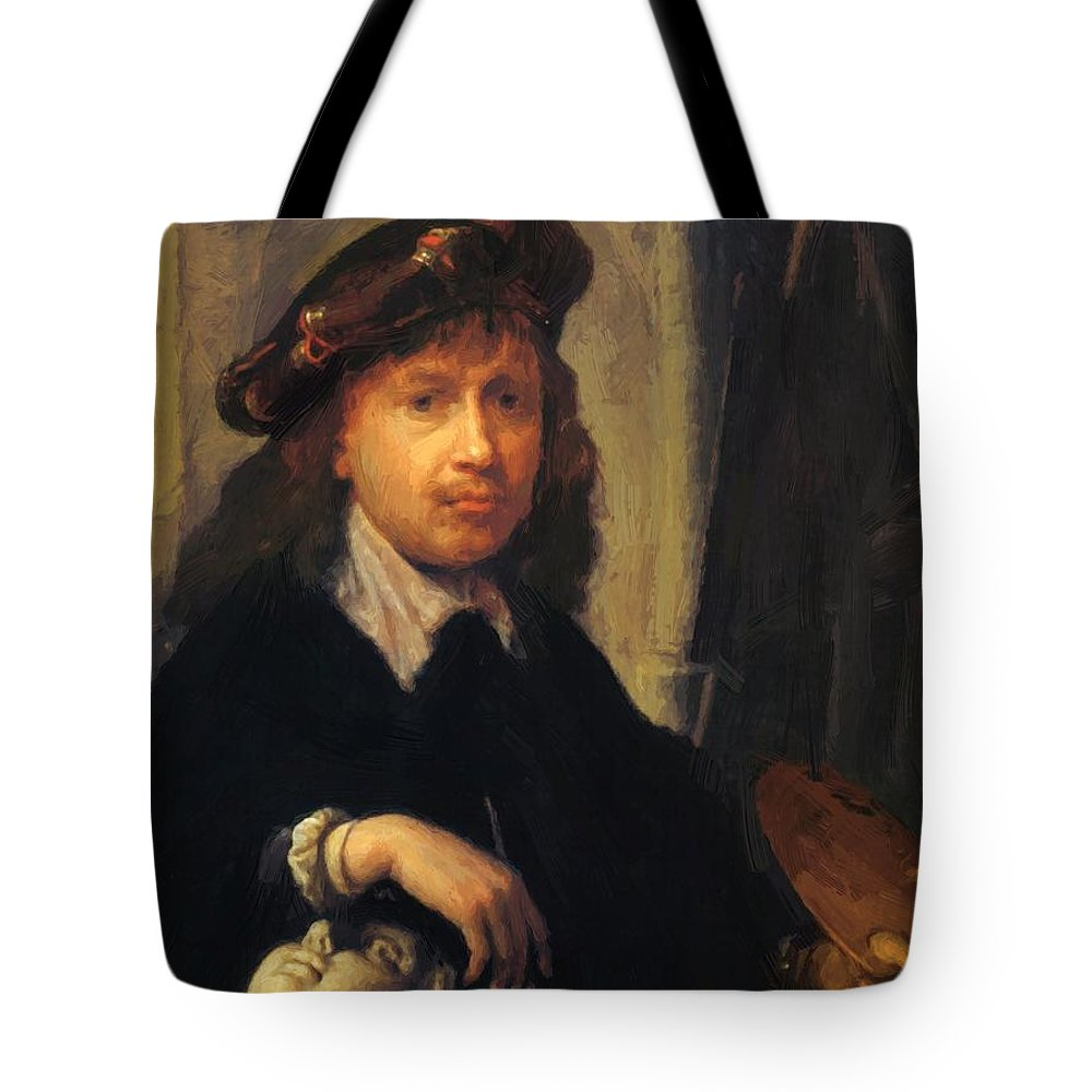 Self Tote Bag featuring the painting Self Portrait 1635 by Dou Gerrit