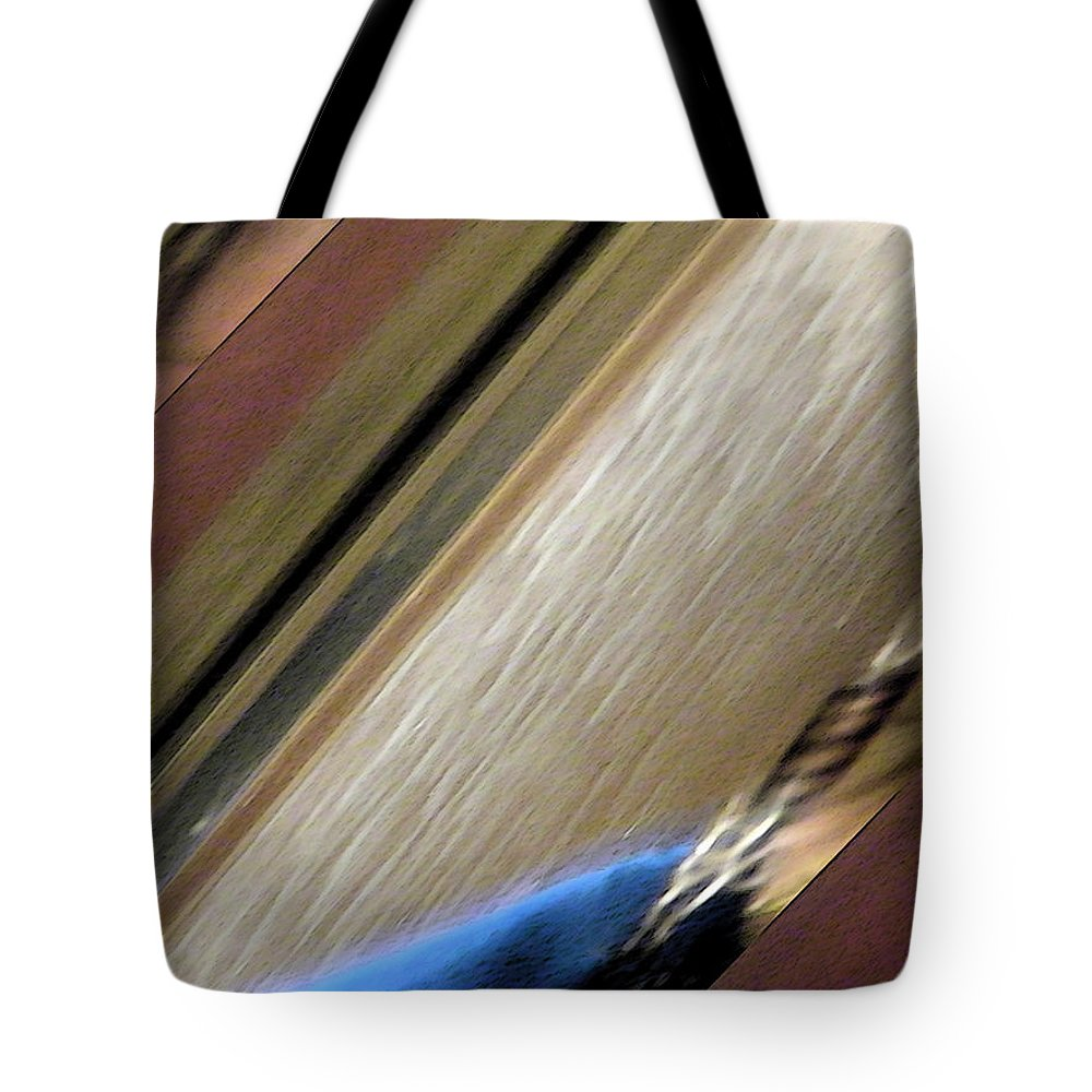 Abstract Tote Bag featuring the digital art Self-portrait Abstract by Lenore Senior