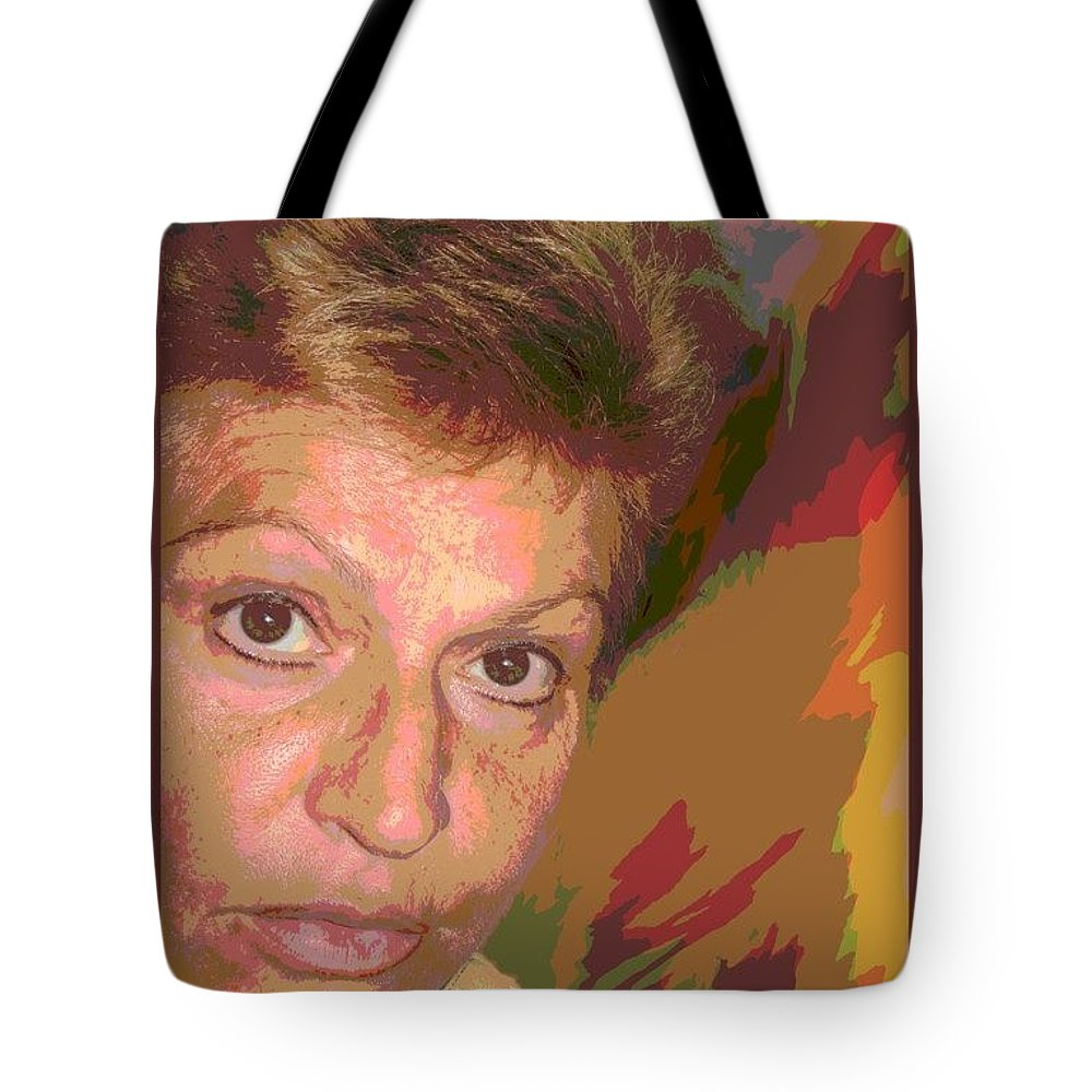 Self Portrait Tote Bag featuring the photograph self portrait IV by Dragica Micki Fortuna