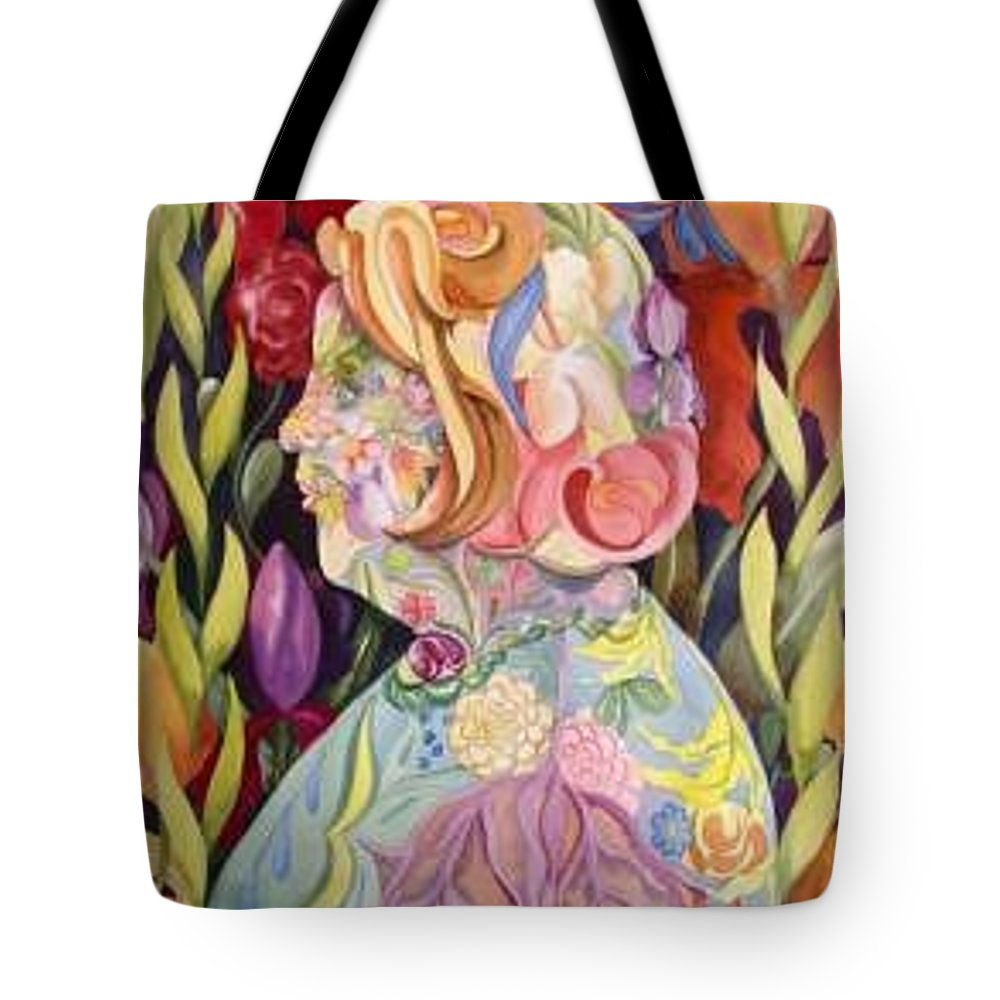 Portrait Tote Bag featuring the painting Self Portrait by Marlene Gremillion