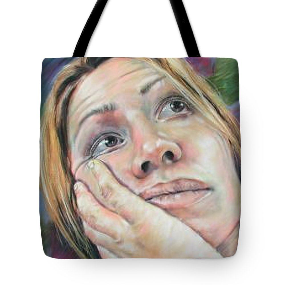 Self Portrait Tote Bag featuring the painting Self Portrait by Marti Nash