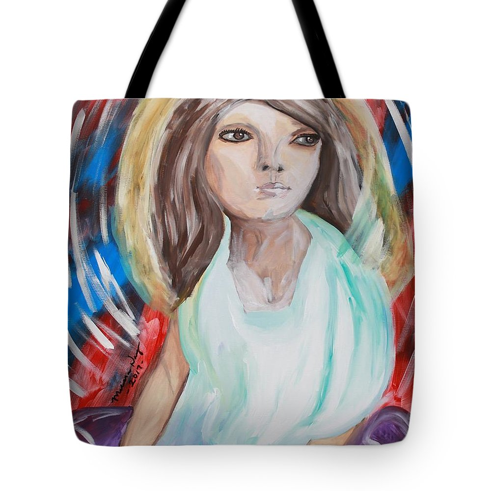 Self Tote Bag featuring the painting Self Portrait by Melissa Nay
