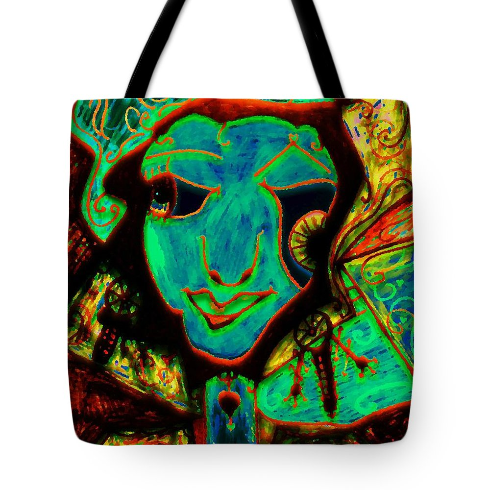 Fantasy Tote Bag featuring the painting Self Portrait by Natalie Holland