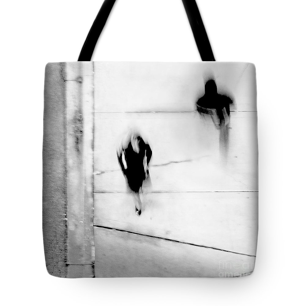 Black Tote Bag featuring the photograph Self-protection - If You Look Me In The Eye Will You See Me by Dana DiPasquale