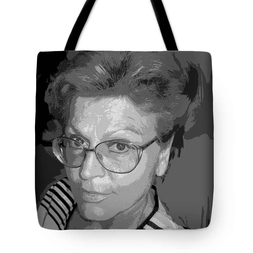 Self Portrait Tote Bag featuring the photograph selfportrait III by Dragica Micki Fortuna