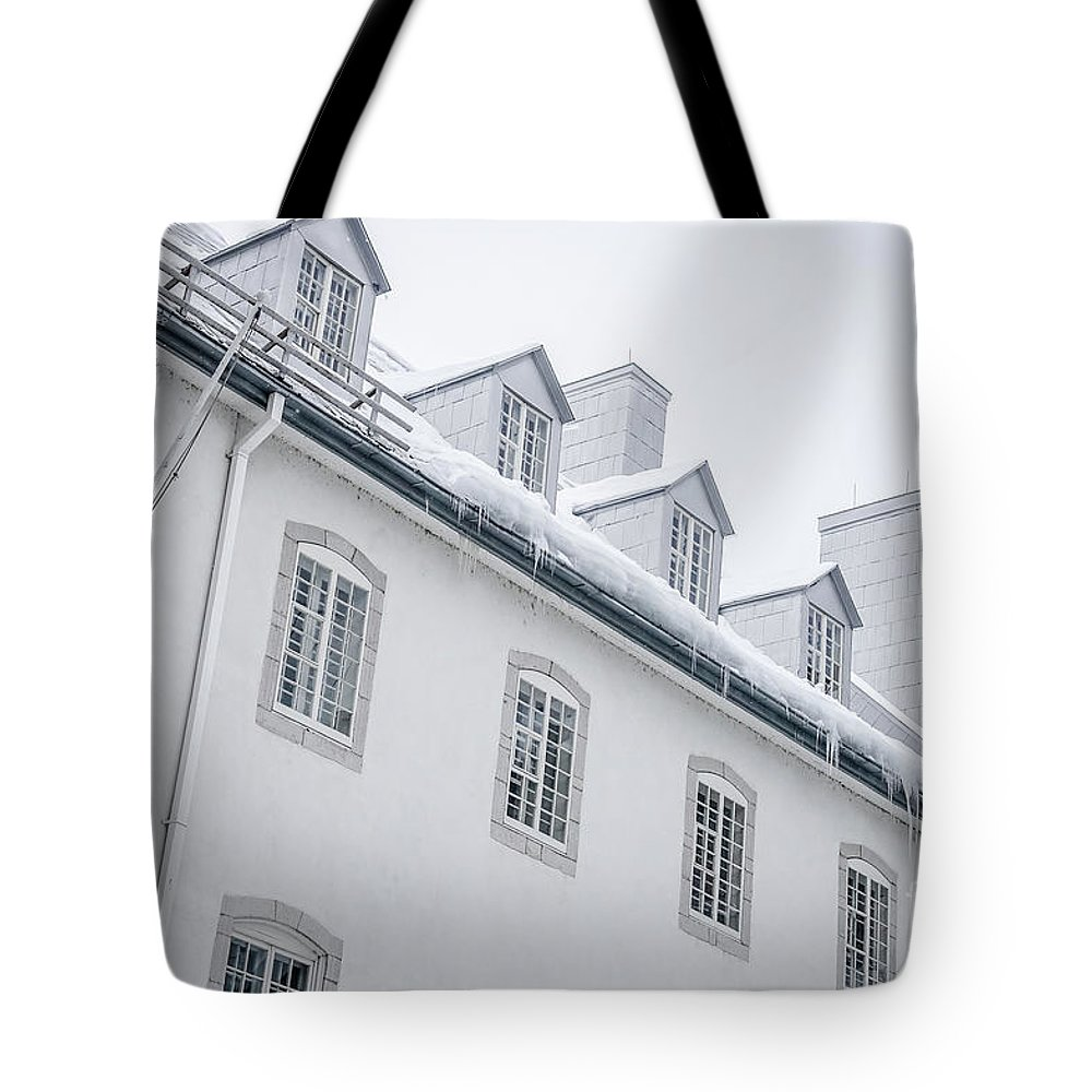 Quebec Tote Bag featuring the photograph Seminary Of Quebec City In Old Town by Edward Fielding