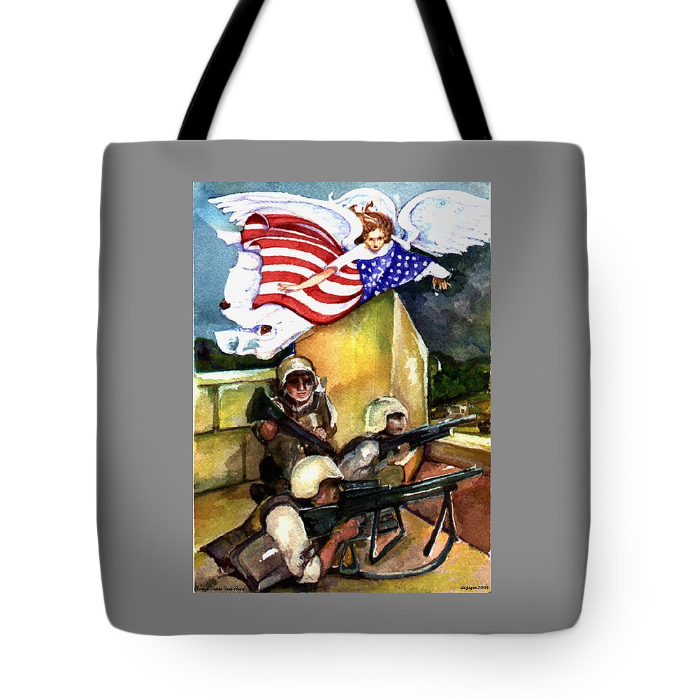 Elle Fagan Tote Bag featuring the painting Semper Fideles - Iraq by Elle Smith Fagan