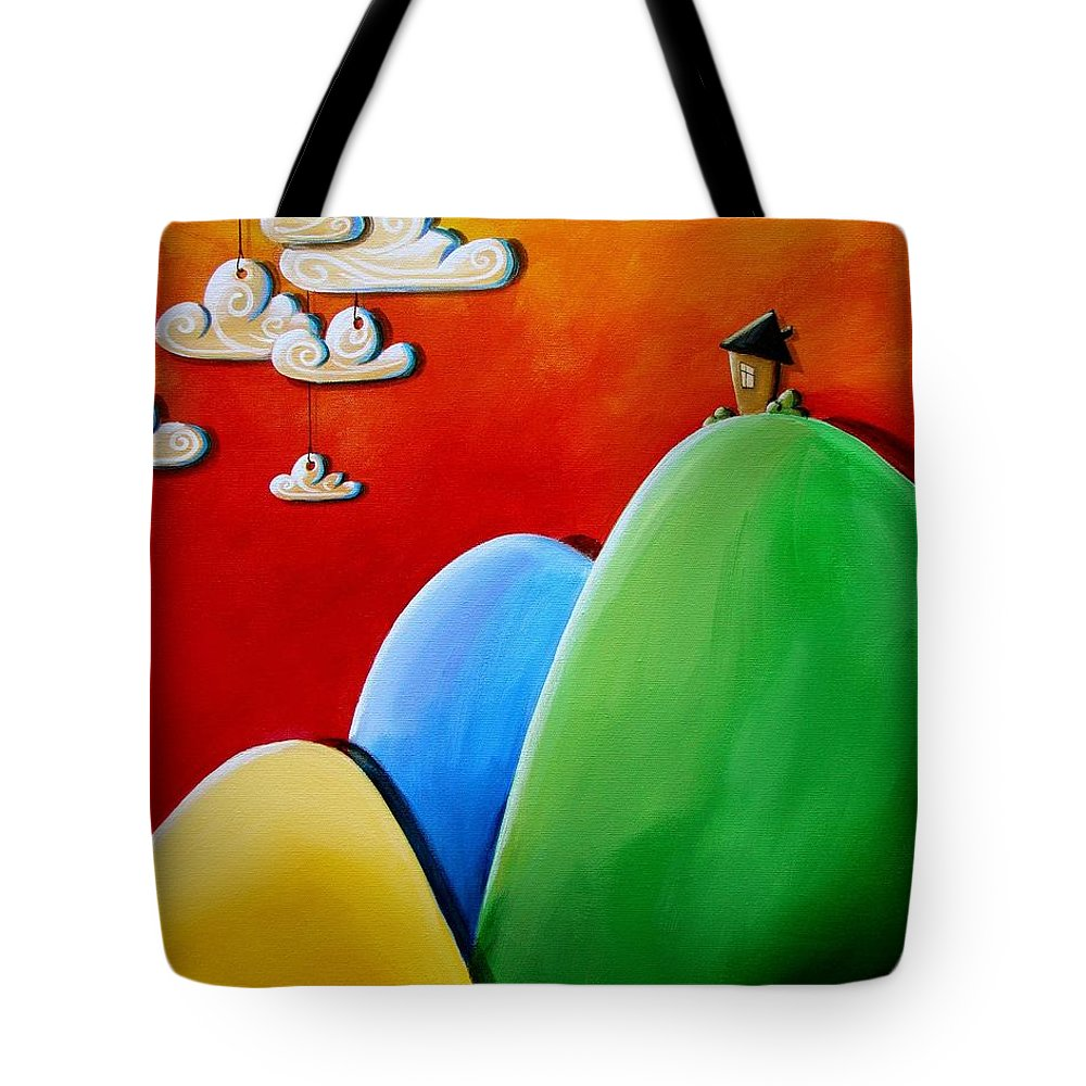 House Tote Bag featuring the painting Send In The Clouds by Cindy Thornton