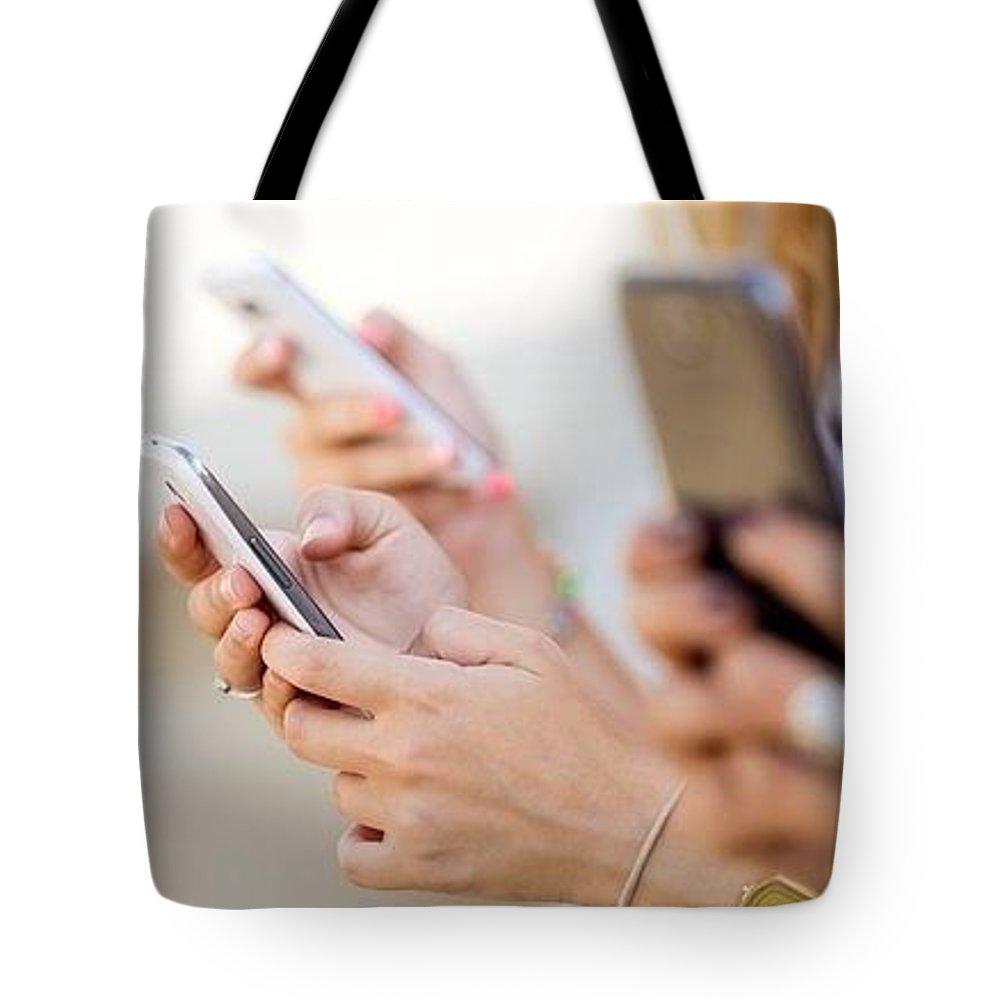 Bulk Sms Api Tote Bag featuring the digital art Send SMS using PHP SMS API by Natasha Williams