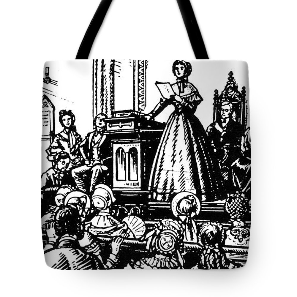 1848 Tote Bag featuring the photograph Seneca Falls Meeting, 1848 by Granger